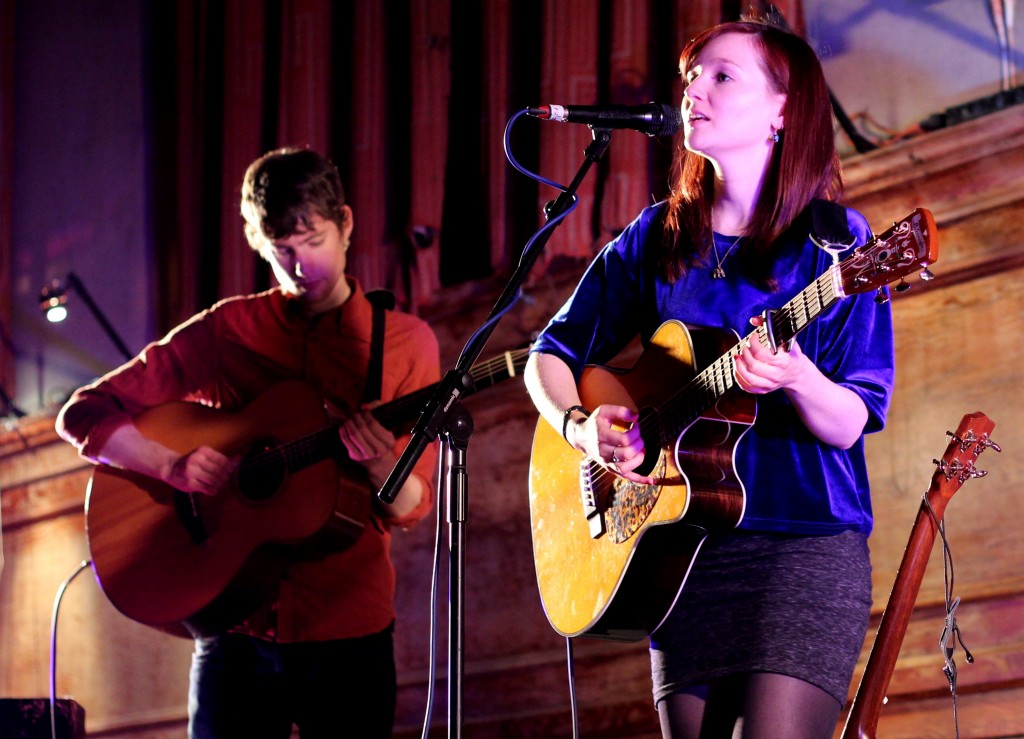 Matthew Jones and Maz O'Connor at Cecil Sharp House. Photo: Simon Rogers