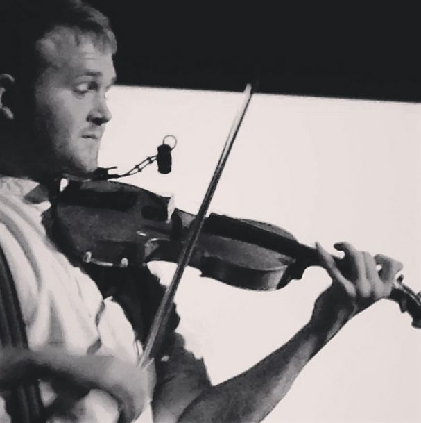 Sam Sweeney and his fiddle. Photo: Emma Goymer